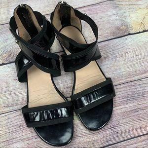 Stuart Weitzman black flat sandal